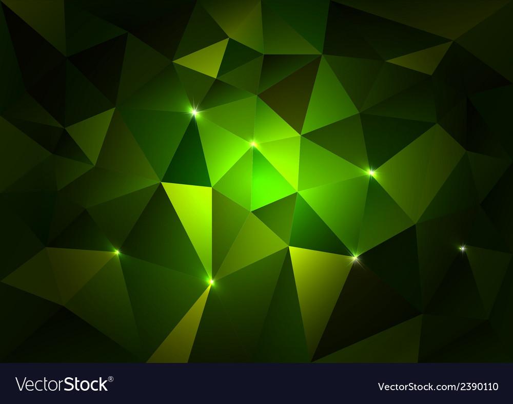 Green triangles dark vector | Price: 1 Credit (USD $1)