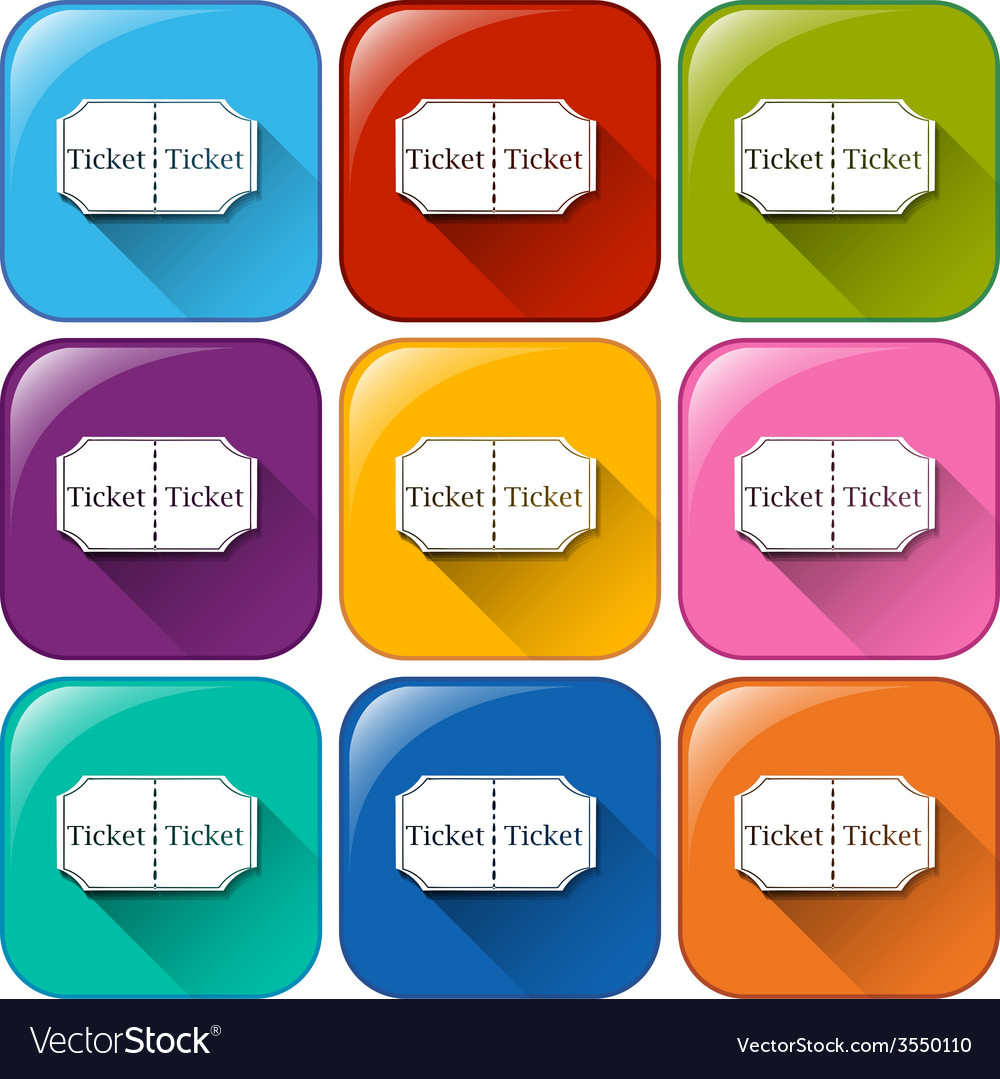 Movie ticket icons vector | Price: 1 Credit (USD $1)