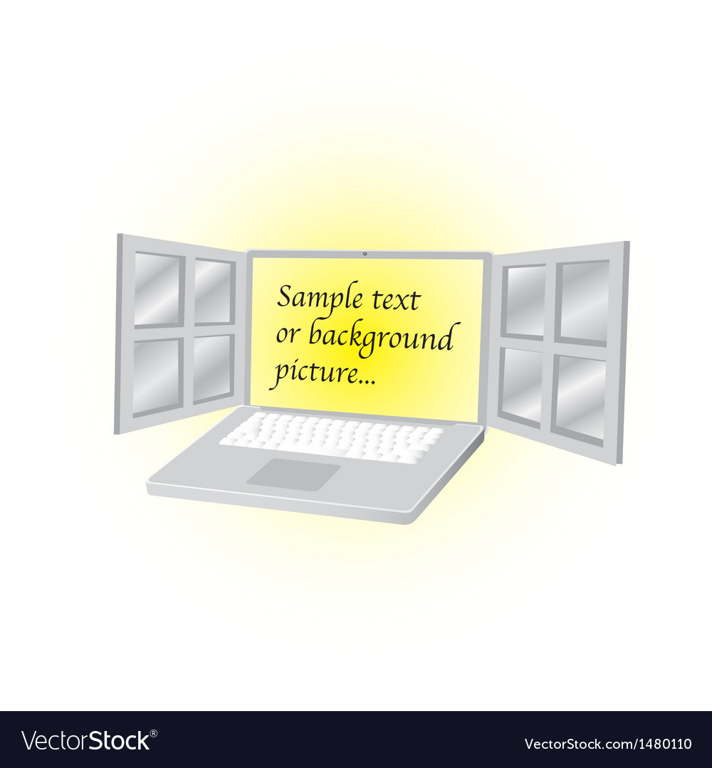 Open laptop vector | Price: 1 Credit (USD $1)