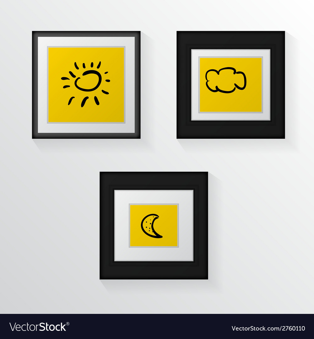 Three poster mock-ups vector | Price: 1 Credit (USD $1)
