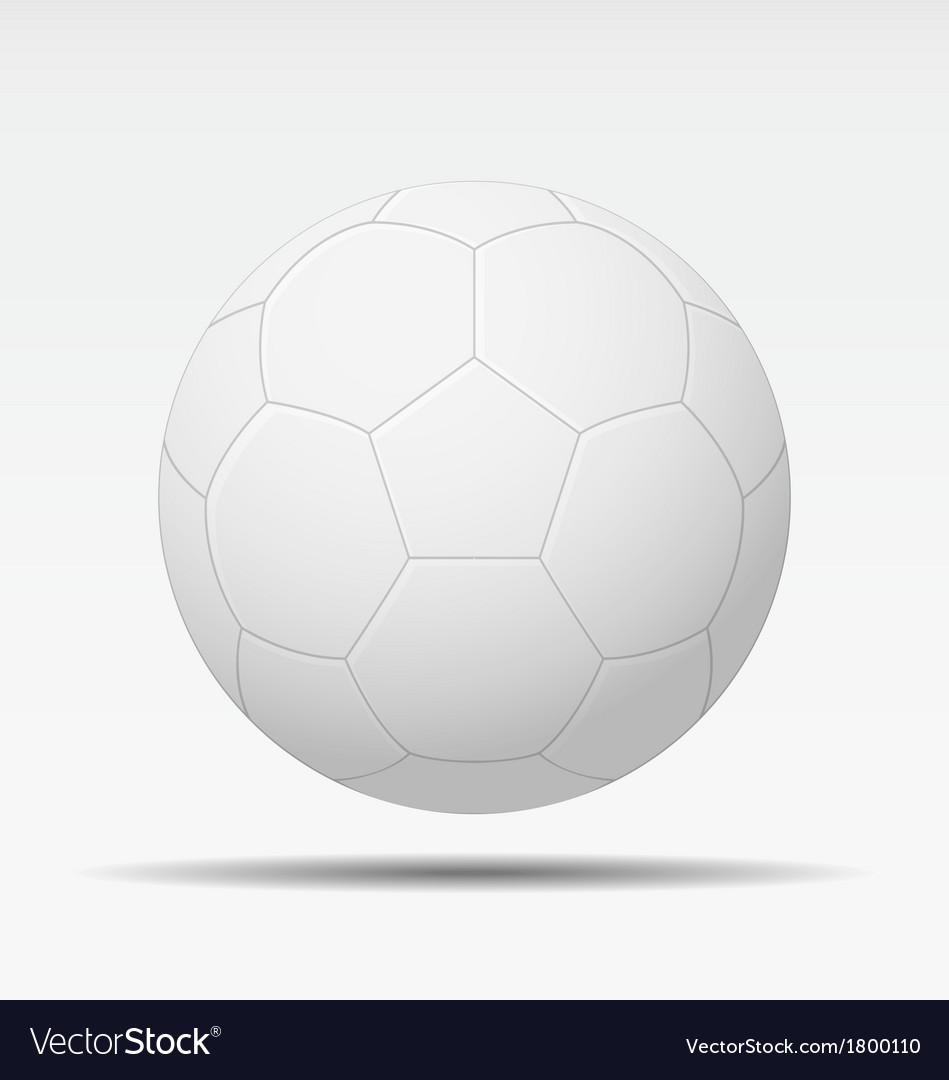 White soccer ball isolated vector | Price: 1 Credit (USD $1)