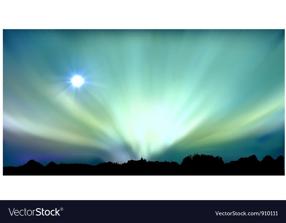 Aurora background vector | Price: 1 Credit (USD $1)