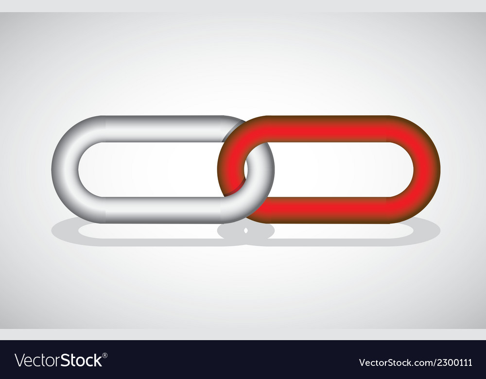 Chain link concept vector | Price: 1 Credit (USD $1)