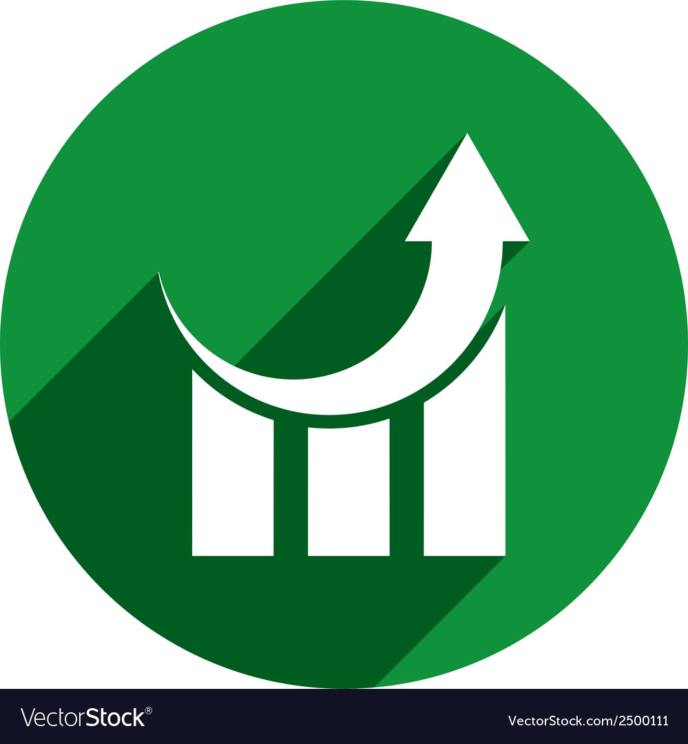 Chart icon isolated vector   Price: 1 Credit (USD $1)
