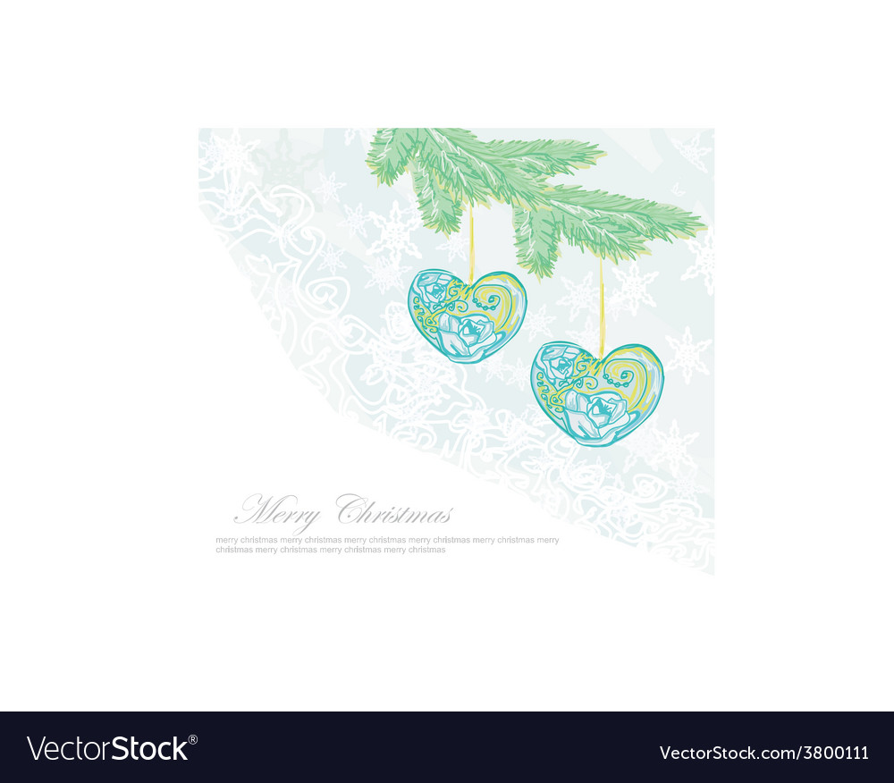 Christmas background christmas branch and ball in vector   Price: 1 Credit (USD $1)