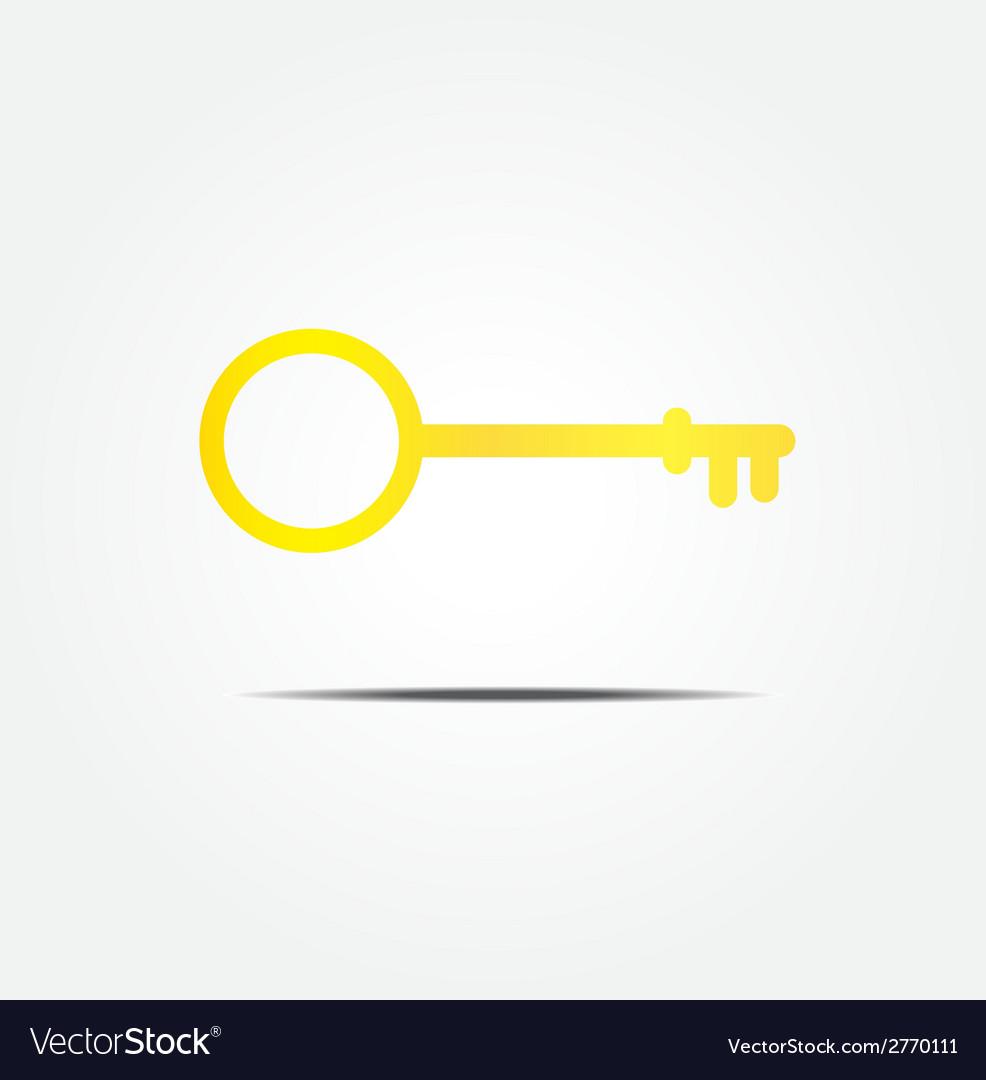 Gold key symbol icon vector   Price: 1 Credit (USD $1)
