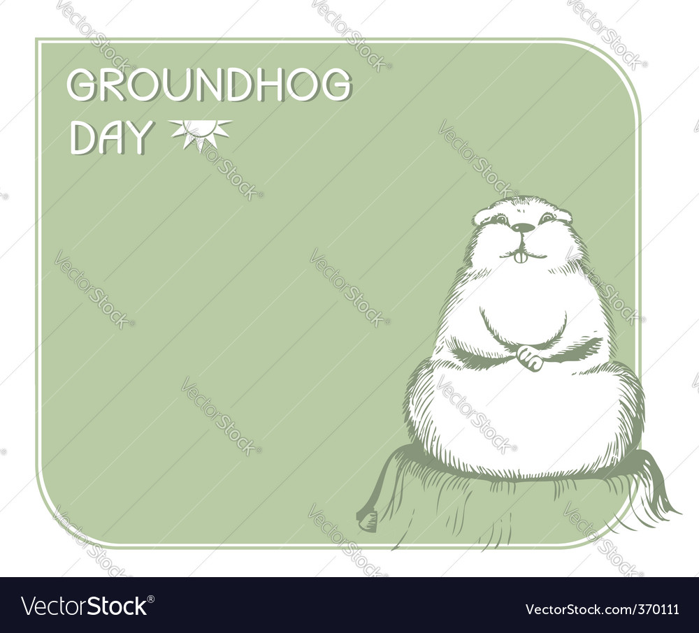 Ground hog day vector | Price: 1 Credit (USD $1)