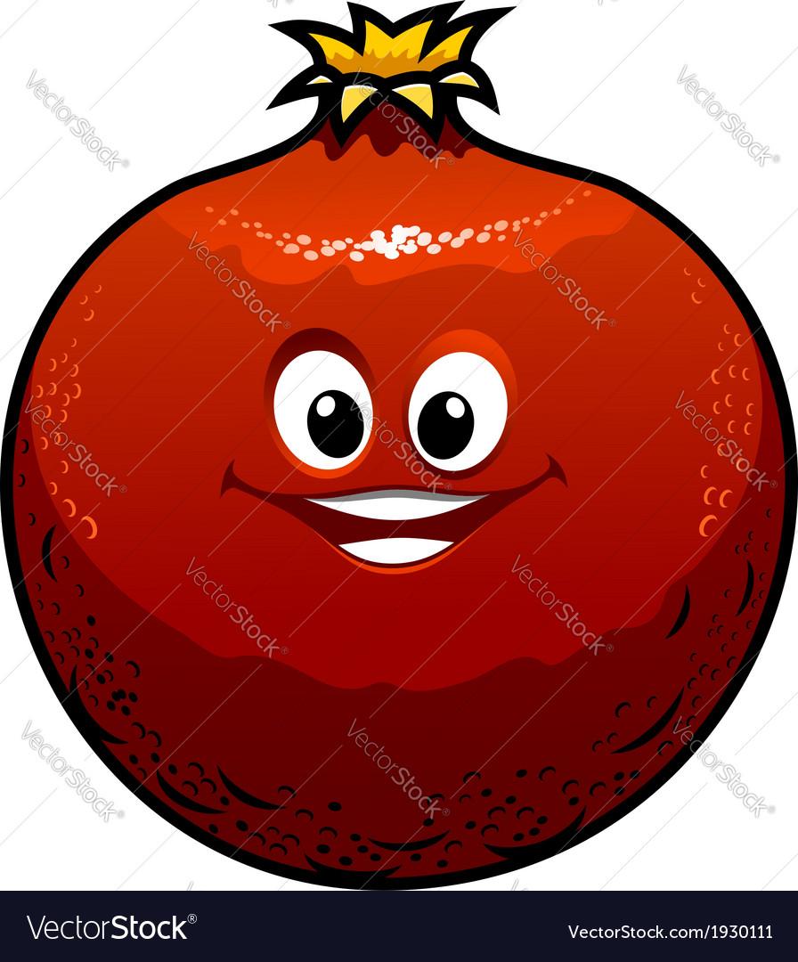 Red cartoon pomegranate vector | Price: 1 Credit (USD $1)