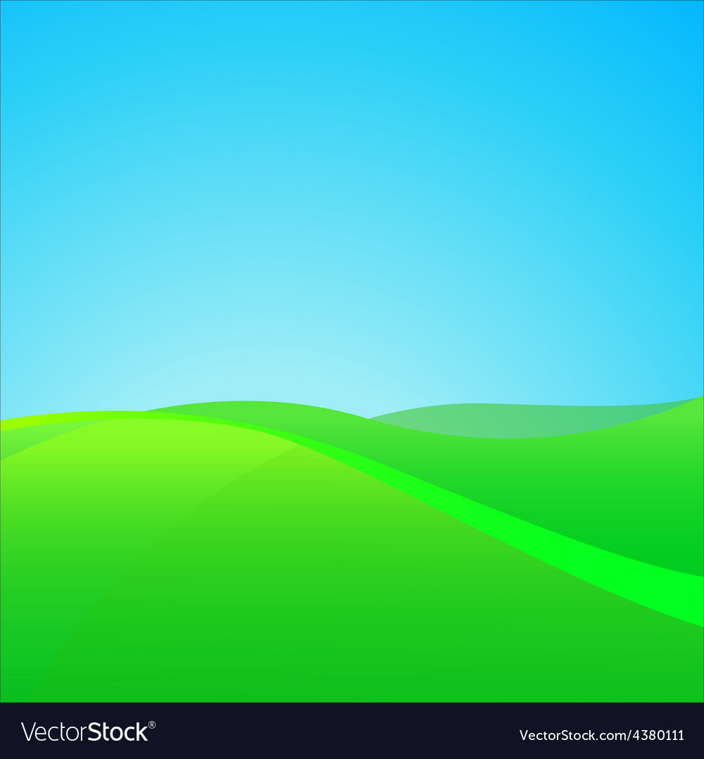 Summer green field vector | Price: 1 Credit (USD $1)