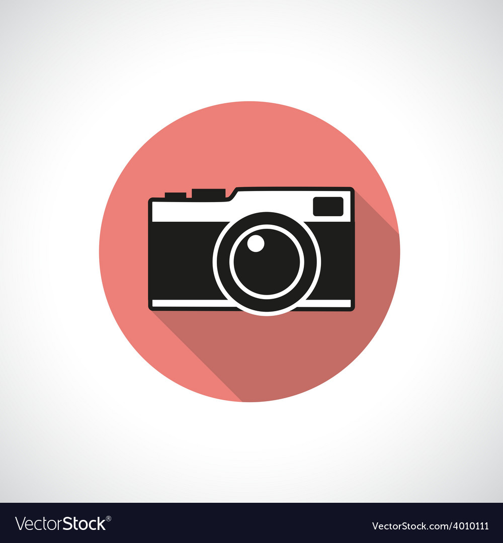 Vintage camera icon vector | Price: 1 Credit (USD $1)