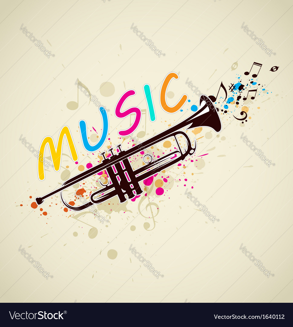 Abstract background with trumpet vector | Price: 1 Credit (USD $1)
