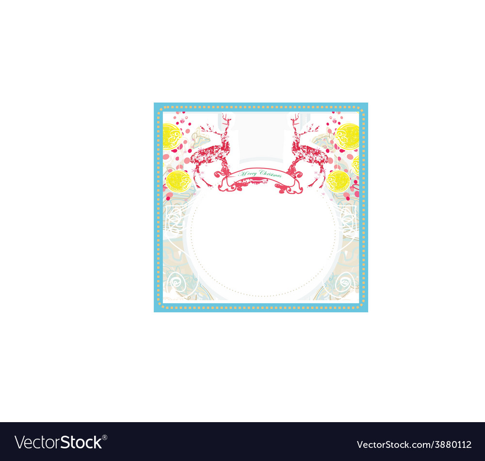 Christmas ornament with red reindeer vector | Price: 1 Credit (USD $1)