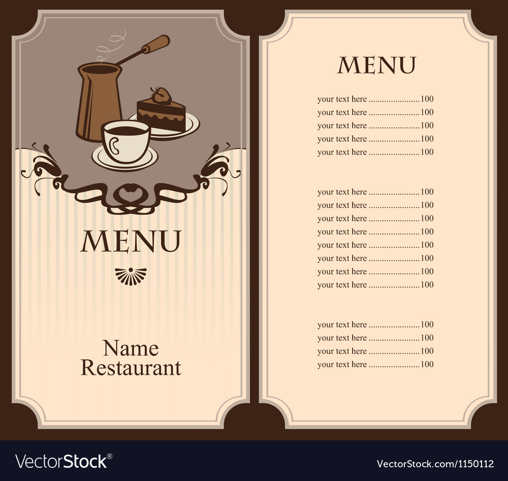 Coffee and dessert vector | Price: 1 Credit (USD $1)