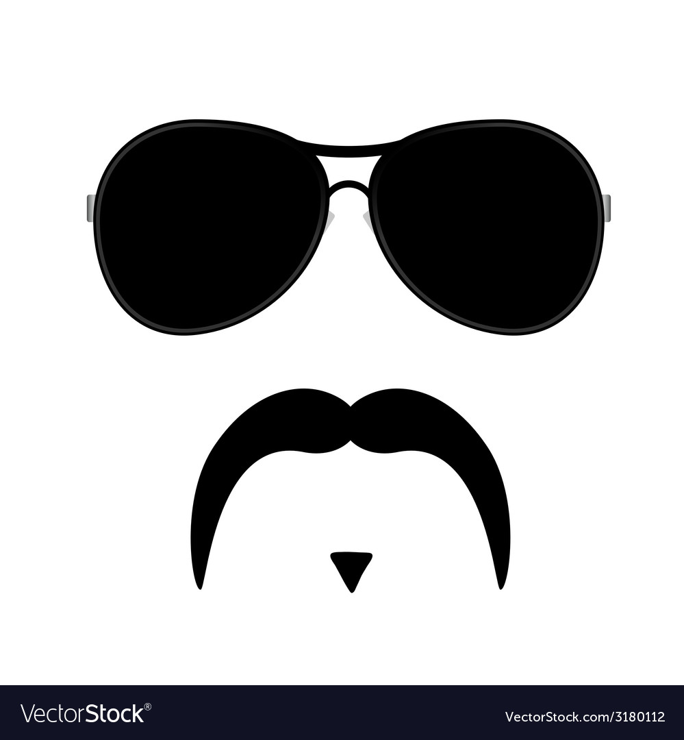 Face with mustache three vector | Price: 1 Credit (USD $1)