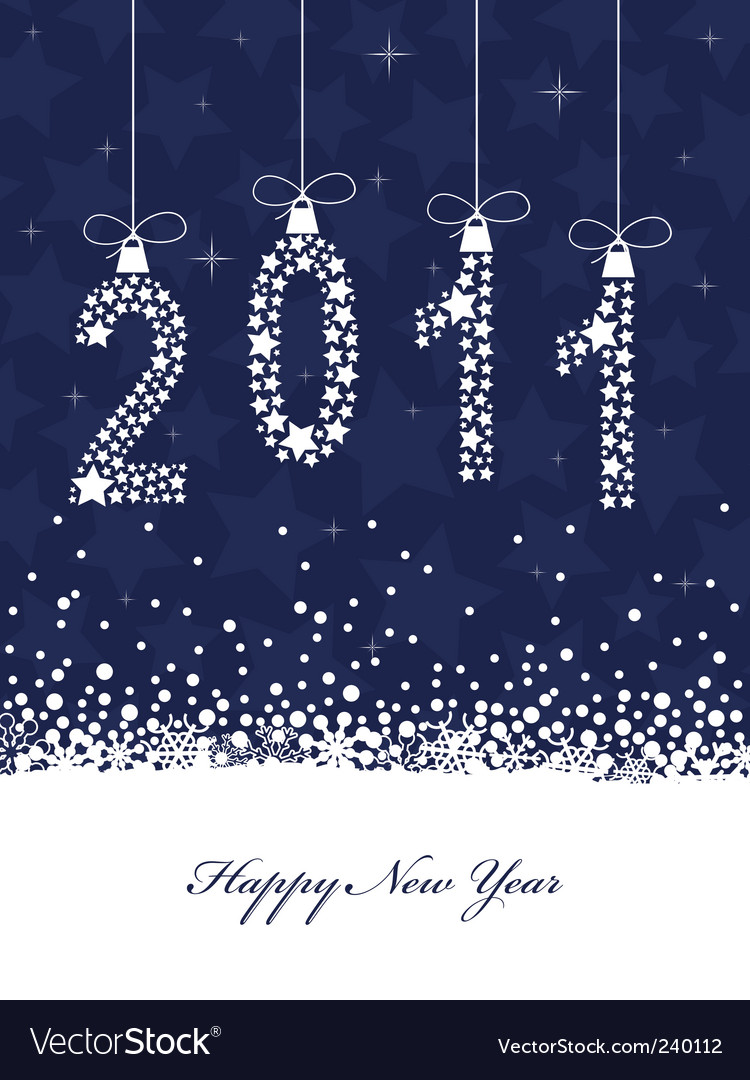 Happy new year 2011 vector | Price: 1 Credit (USD $1)