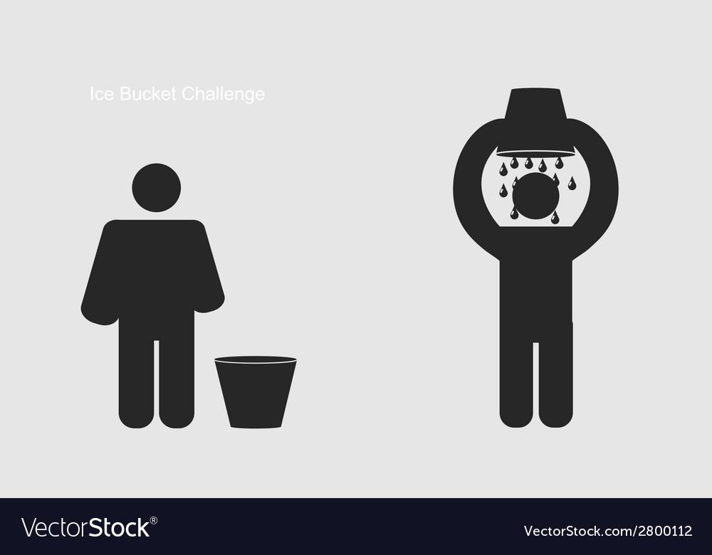 Ice bucket challenge modern flashmob vector | Price: 1 Credit (USD $1)