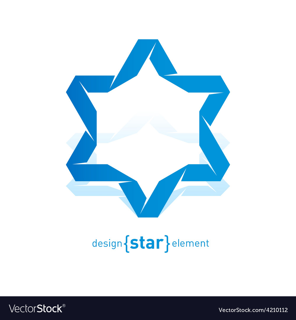 Imitation of origami david star from paper vector | Price: 1 Credit (USD $1)