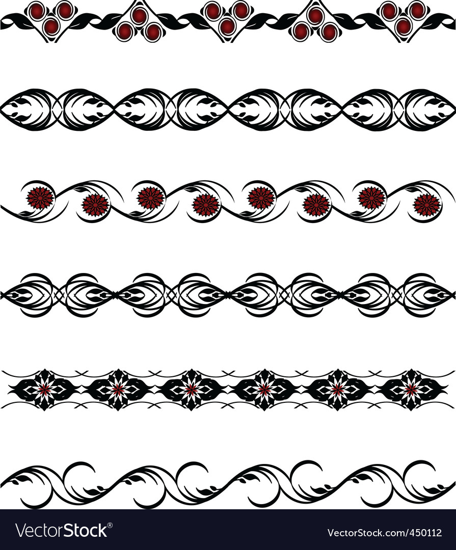 Of a set of flower borders vector | Price: 1 Credit (USD $1)