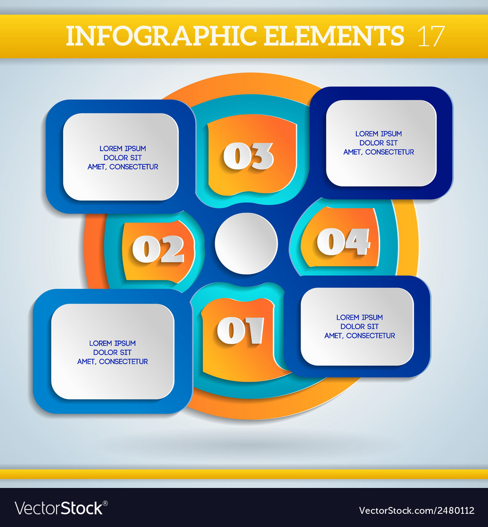 Paper info graphic colorful scheme with steps vector | Price: 1 Credit (USD $1)