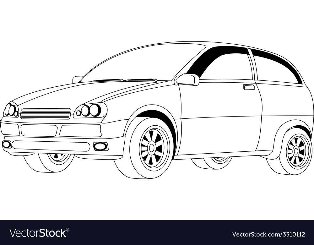 Passenger car vector | Price: 1 Credit (USD $1)