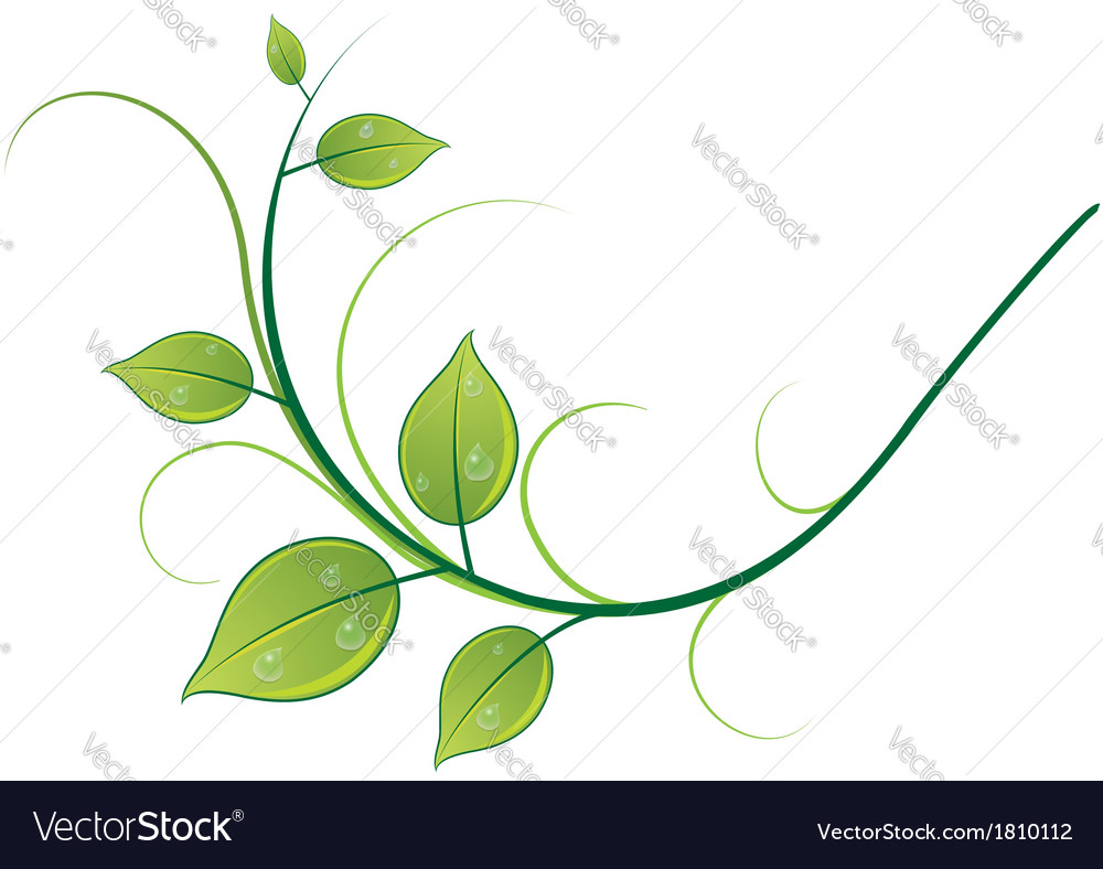 Pattern of twigs and leaves vector | Price: 1 Credit (USD $1)