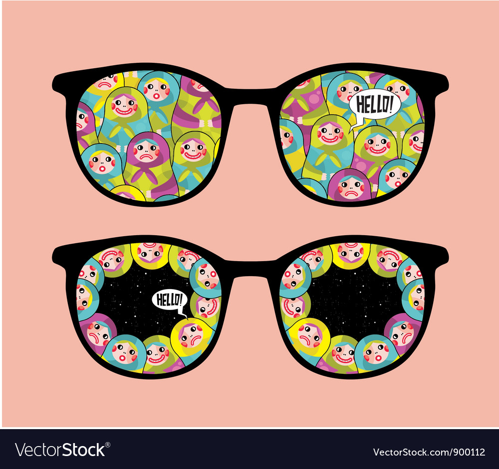 Patterned glasses vector | Price: 1 Credit (USD $1)