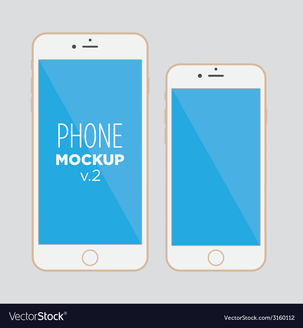 Phone mockup v2 vector | Price: 1 Credit (USD $1)