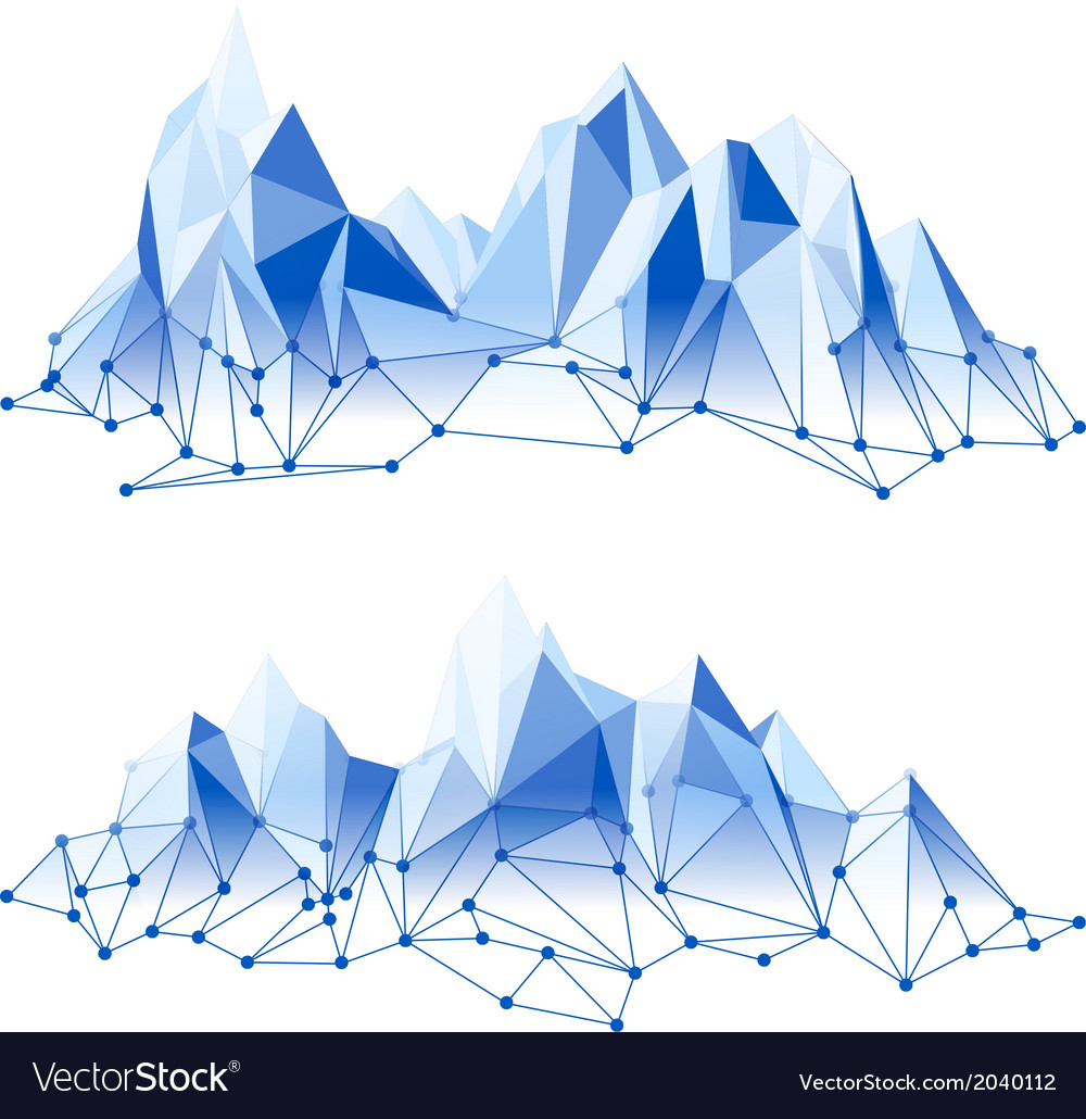 Poly mountains vector | Price: 1 Credit (USD $1)