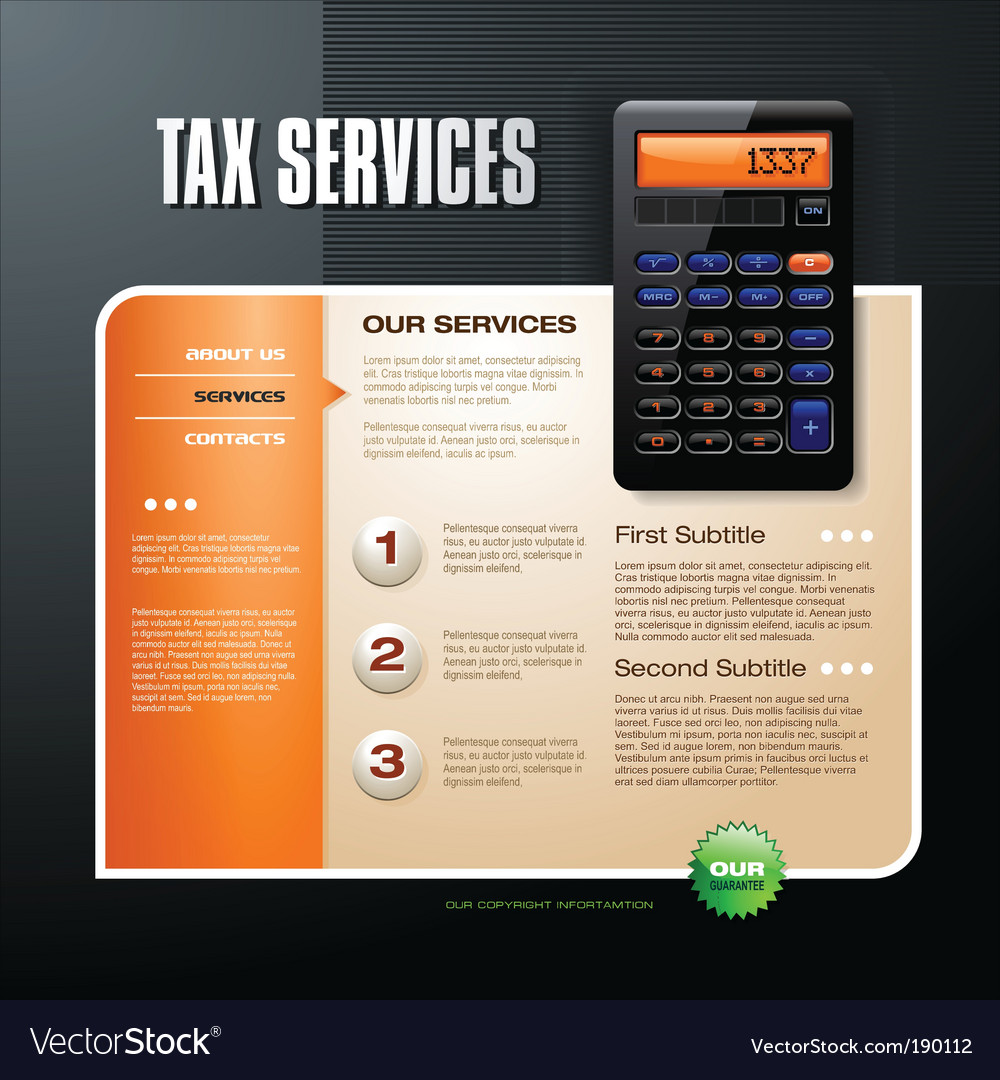 Tax firm web template vector | Price: 3 Credit (USD $3)