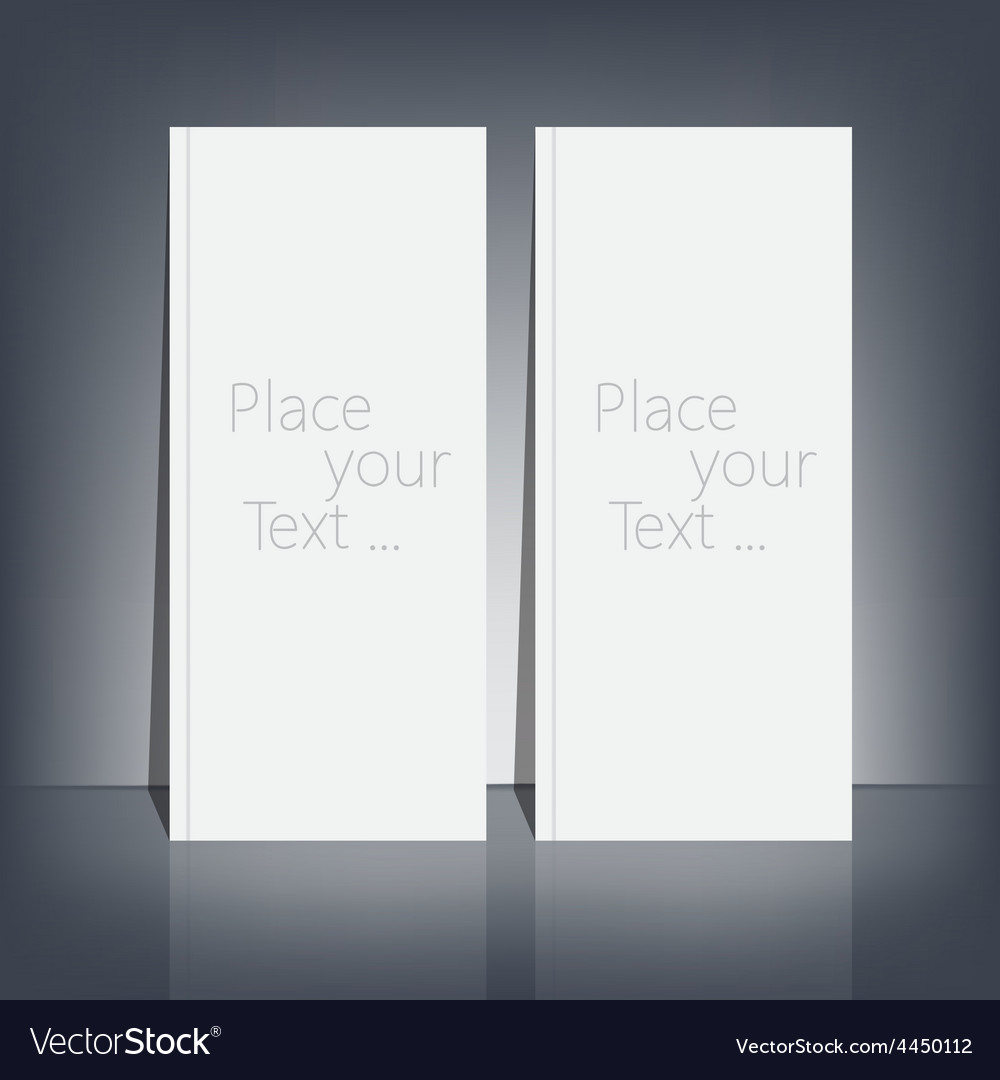 Two white blank stationary near the black wall vector | Price: 1 Credit (USD $1)