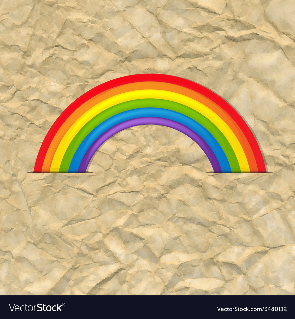 Vintage card with rainbow vector | Price: 1 Credit (USD $1)