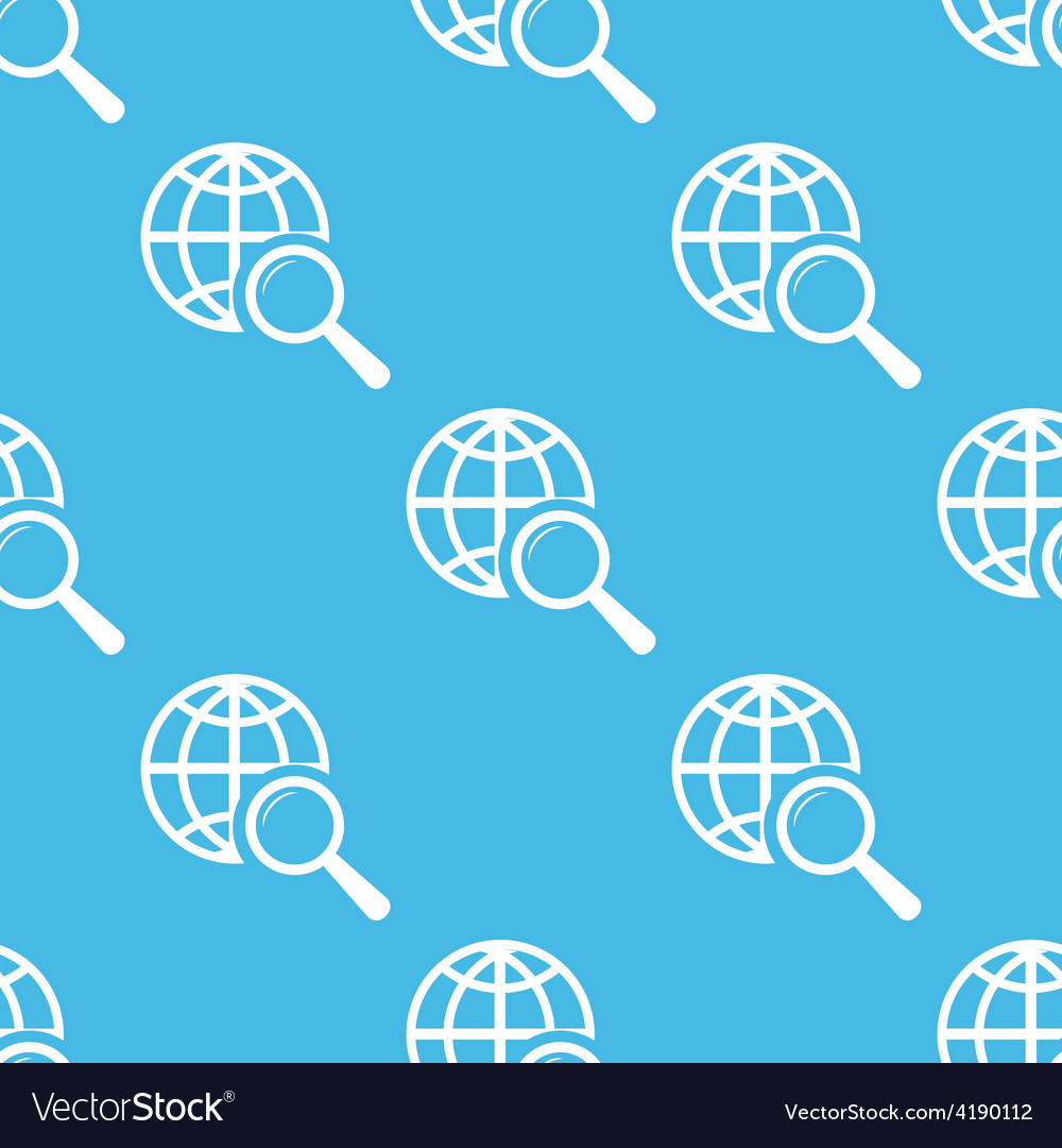 World scan seamless pattern vector | Price: 1 Credit (USD $1)