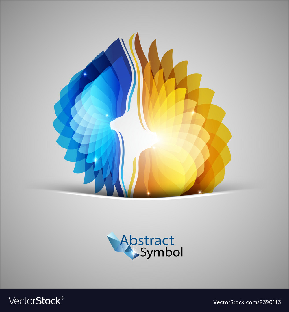 Blue and orange shapes vector | Price: 1 Credit (USD $1)