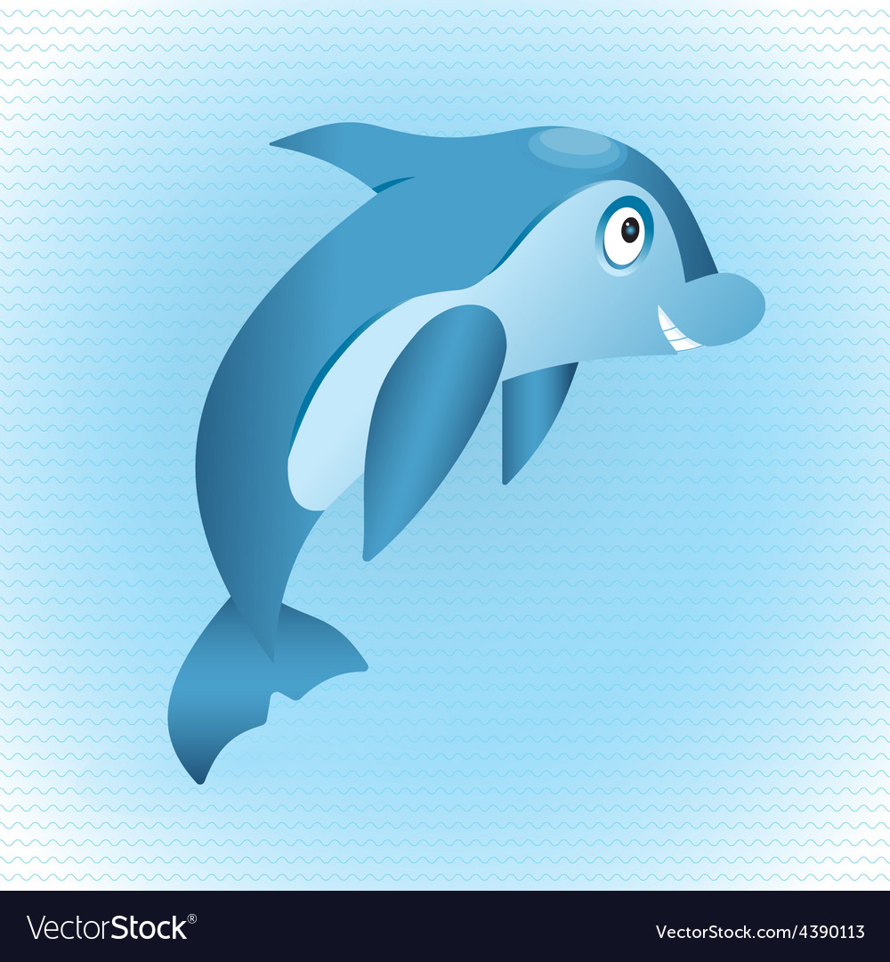 Blue dolphin vector | Price: 1 Credit (USD $1)