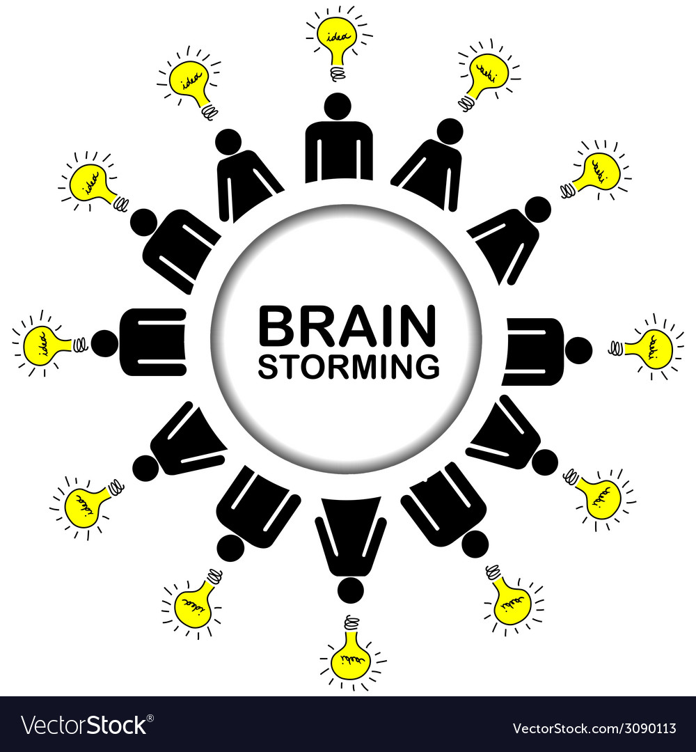 Brainstorming concept with people having ideas vector | Price: 1 Credit (USD $1)