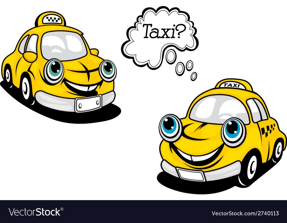 Cartoon taxi car vector   Price: 1 Credit (USD $1)