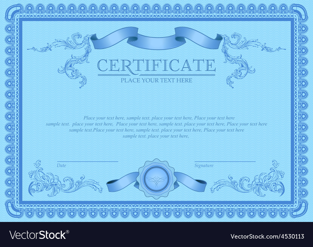 Certificate or coupon template vector   Price: 1 Credit (USD $1)