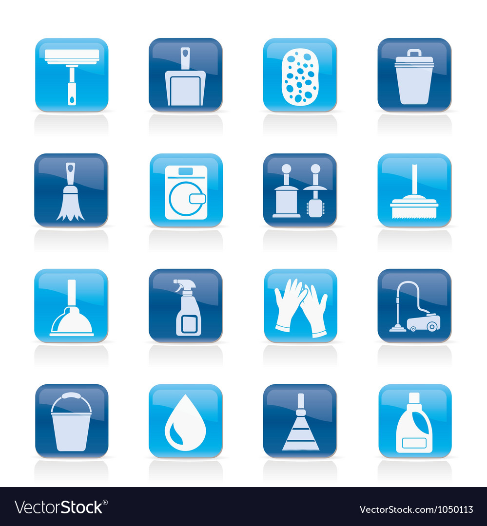 Cleaning and hygiene icons vector | Price: 1 Credit (USD $1)