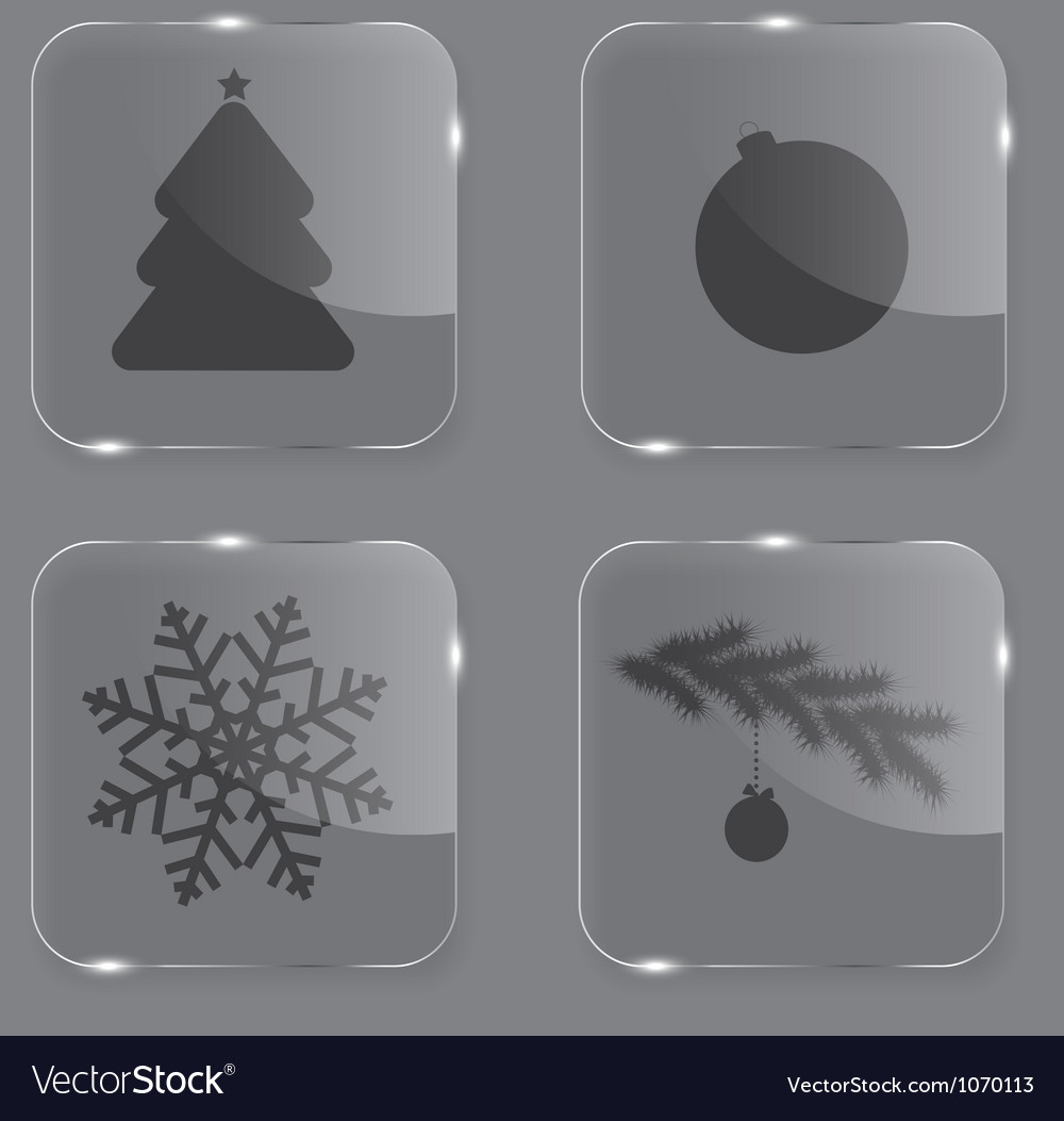 Glass christmas button vector | Price: 1 Credit (USD $1)