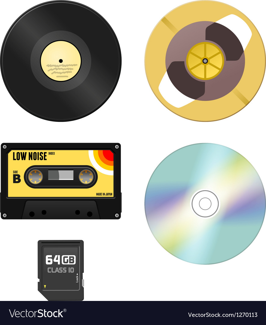 Music media vector | Price: 1 Credit (USD $1)