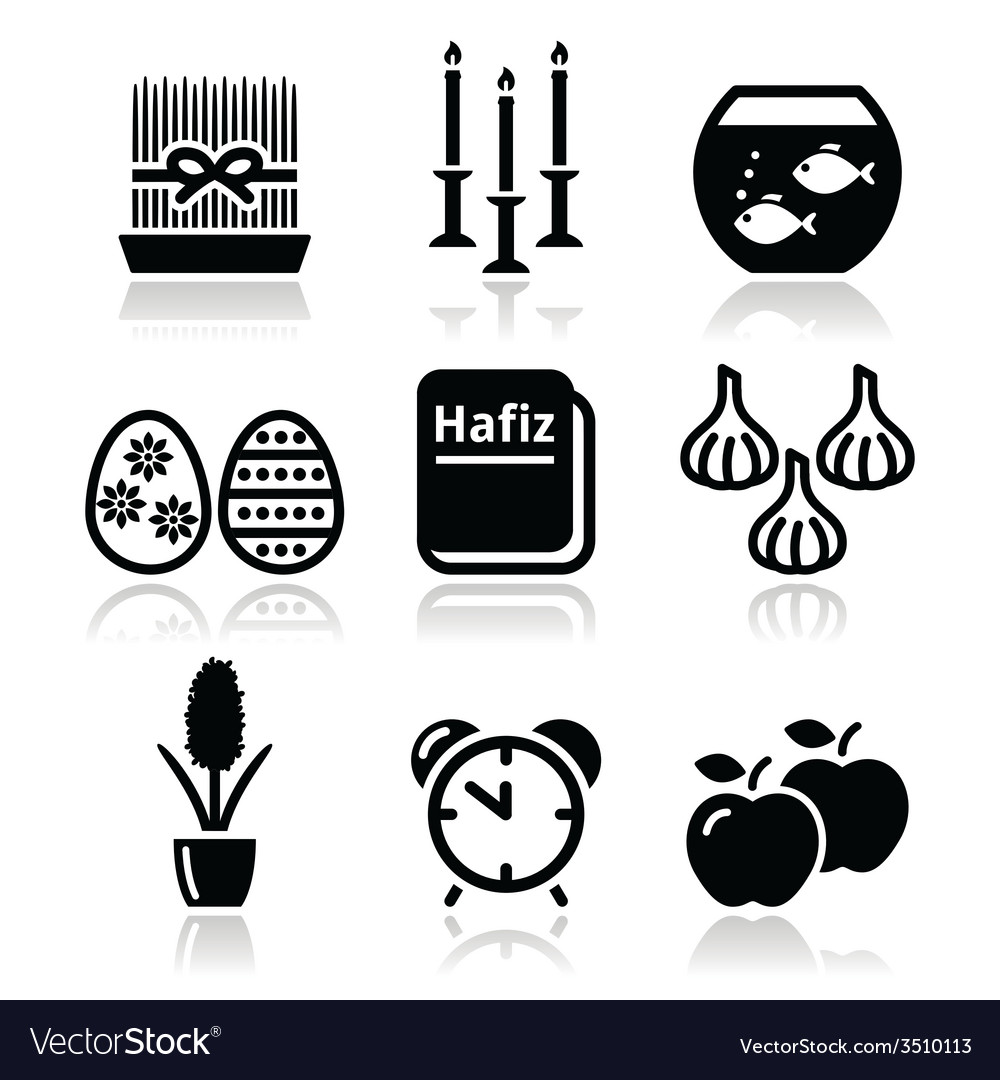 Nowruz - persian new year icons set vector | Price: 1 Credit (USD $1)