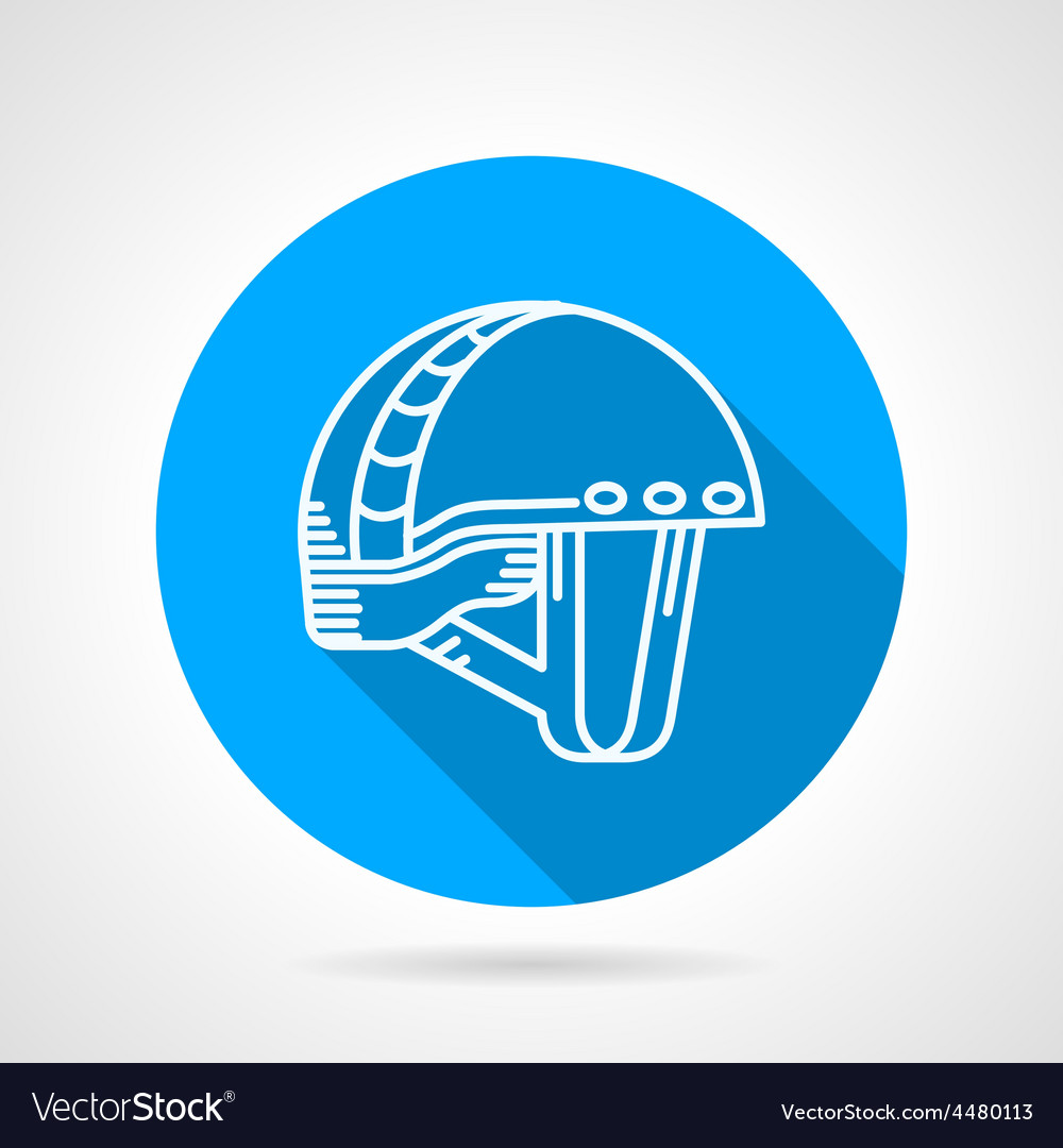 Round blue icon for sport helmet vector | Price: 1 Credit (USD $1)