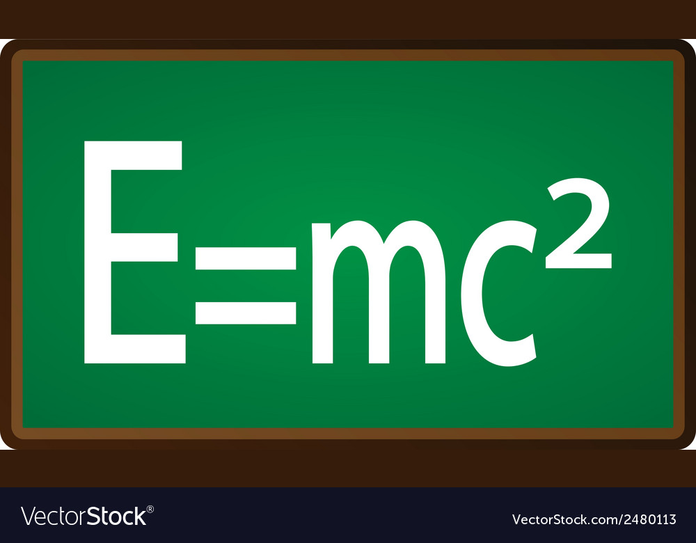 Theory of relativity chalkboard vector | Price: 1 Credit (USD $1)