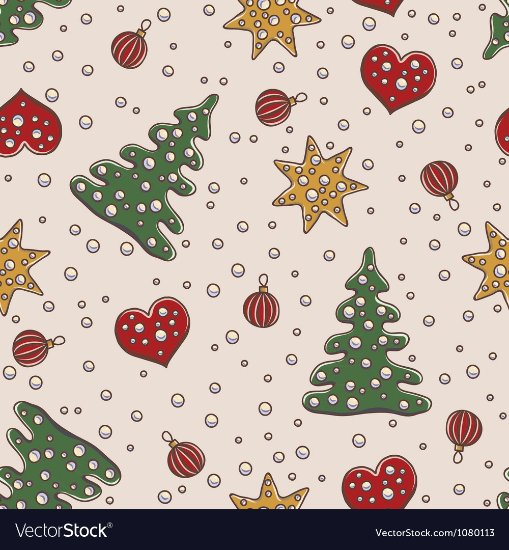 Seamless pattern christmas and new year theme vector | Price: 1 Credit (USD $1)