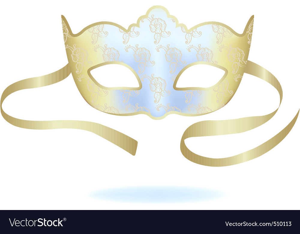 Venetian gold carnival mask vector | Price: 1 Credit (USD $1)