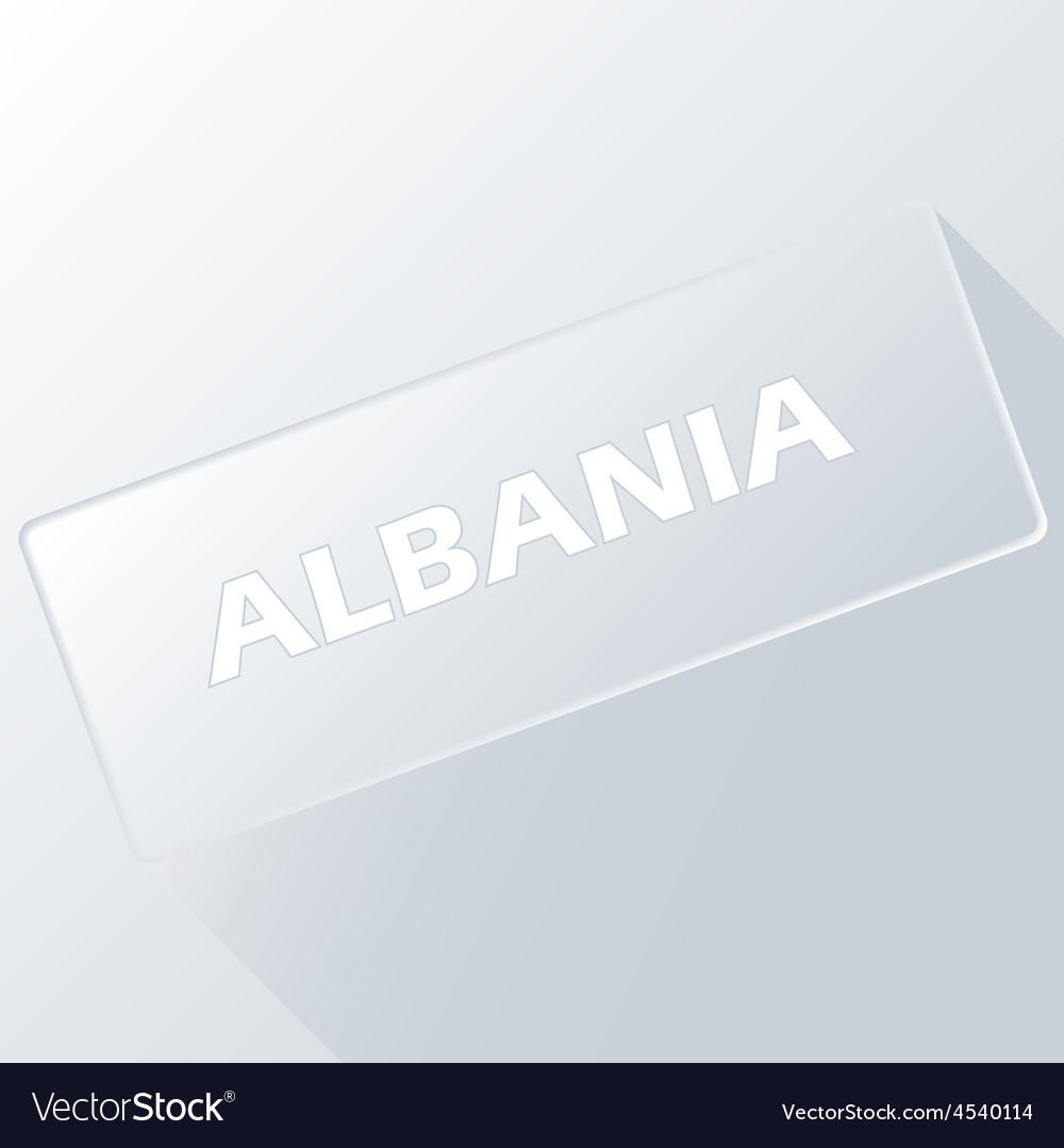Albania unique button vector | Price: 1 Credit (USD $1)