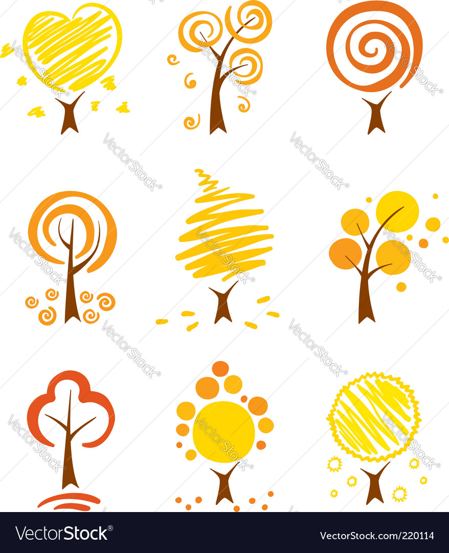 Autumn trees vector | Price: 1 Credit (USD $1)