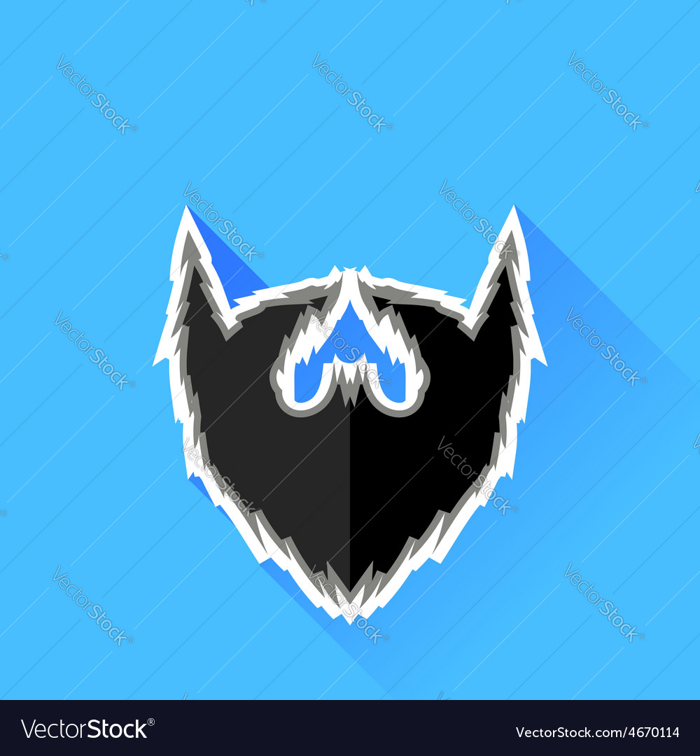 Black beard icon vector | Price: 1 Credit (USD $1)