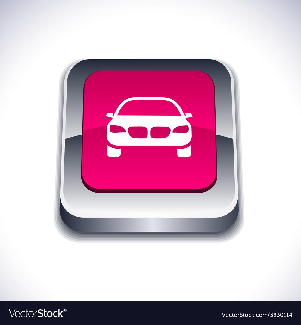Car 3d button vector | Price: 1 Credit (USD $1)