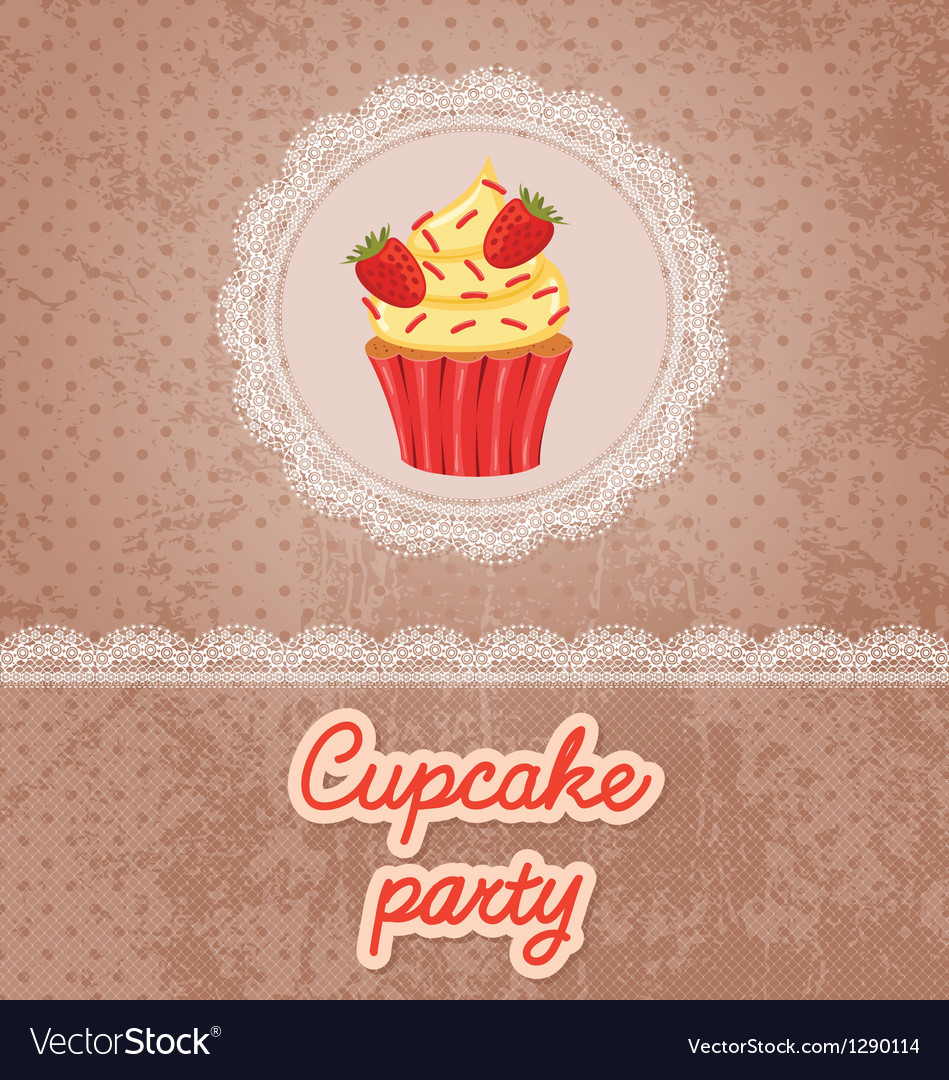 Cupcake party vector | Price: 1 Credit (USD $1)